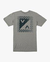 0 Boy's Check Mate T-Shirt Green B407VRCH RVCA