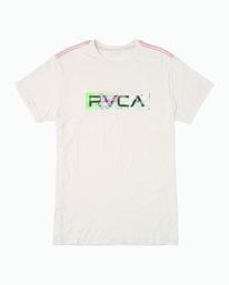 0 Boy's Serigraph T-Shirt White B409WRSE RVCA