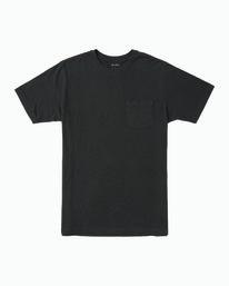 0 Boy's PTC Standard Wash T-Shirt Black B412TRPT RVCA
