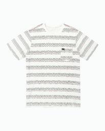 0 Boys Wavy Striped Pocket T-Shirt White B412WRWS RVCA