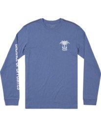 0 Boys OASIS LONG SLEEVE T-SHIRT Blue B4512ROA RVCA
