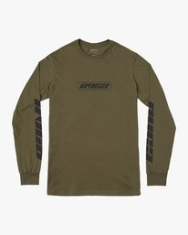 0 Boy's Warehouse Long Sleeve T-Shirt Green B451VRWA RVCA