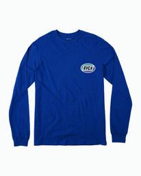 0 Boys Cortex Long Sleeve T-Shirt Blue B451WRCT RVCA