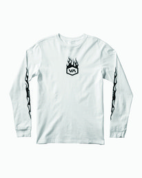 0 Boys Forged Long Sleeve T-Shirt White B451WRFO RVCA