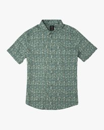 0 Boy's Makato Button-Up Shirt Green B502SRMA RVCA