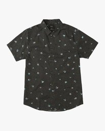 0 Boy's Scattered Printed Shirt Black B506QRSC RVCA