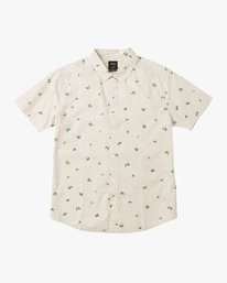 0 Boy's Scattered Printed Shirt Silver B506QRSC RVCA