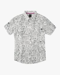0 Boy's Grillo Button-Up Shirt White B507SRGR RVCA