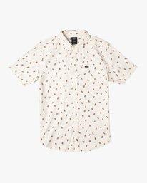 0 Boy's That'll Do Printed Short Sleeve Shirt White B508TRTP RVCA