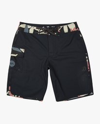 0 Boy's Eastern Boardshorts Grey B5104EAS RVCA