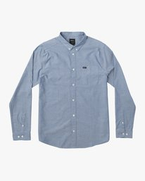0 Boy's That'll Do Stretch Long Sleeve Shirt Blue B511QRTL RVCA
