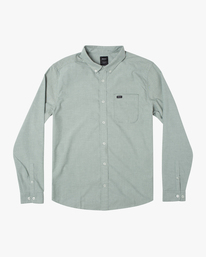 0 Boy's That'll Do Stretch Long Sleeve Shirt Green B526VRTL RVCA