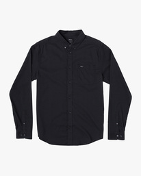 0 BOYS THATLL DO STRETCH LONG SLEEVE SHIRT Black B526VRTL RVCA
