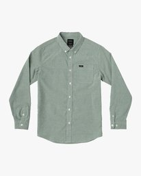0 Boy's That'll Do Stretch Long Sleeve Shirt Grey B526VRTL RVCA