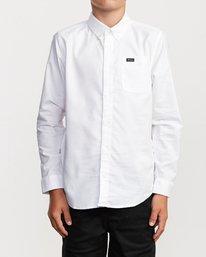 1 Boys That'll Do Stretch Long Sleeve Shirt White B526VRTL RVCA