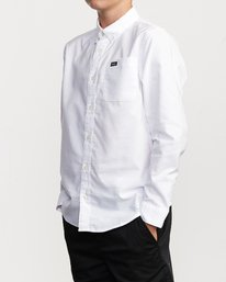 3 Boys That'll Do Stretch Long Sleeve Shirt White B526VRTL RVCA