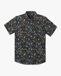 0 Boy's Costello Floral Button-Up Shirt Grey B550WRCO RVCA