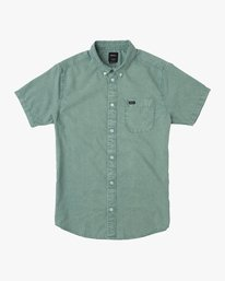0 Boy's That'll Do Washed Button-Up Shirt  B592SRTR RVCA