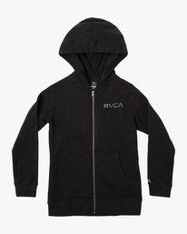 0 Boy's Ripper Zip Hoodie Black B601VRRI RVCA