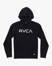 0 Boy's Big RVCA Hoodie Black B601WRBR RVCA