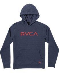 0 BIG RVCA HOODIE Blue B601WRBR RVCA