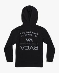 1 VA Sport | Boy's Ripper II Zip-Up Hoodie Black B6053RRI RVCA