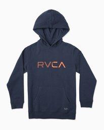 0 Boy's Scratched RVCA Hoodie Blue B624TRSC RVCA