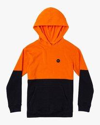 0 Boy's Carlisle Colorblocked Hoodie Orange B683WRCR RVCA