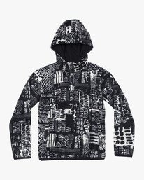 0 Boys Mundy Polar Fleece Jacket Black B693WRMU RVCA