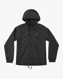 0 Boy's VA Hooded Coaches Jacket Black B701NRVA RVCA