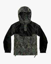 0 Boys Killer Anorak Jacket Green B722VRKI RVCA