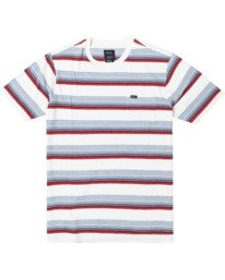 0 Boys VENTURA STRIPE SHORT SLEEVE T-SHIRT  B9023RVS RVCA