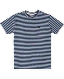0 Boys DOWNLINE STRIPE SHORT SLEEVE T-SHIRT Blue B9042RDL RVCA