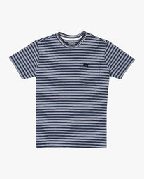 0 Boys DOWNLINE STRIPE SHORT SLEEVE T-SHIRT Blue B9042RDL RVCA