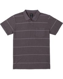 0 BOYS PTC STRIPE POLO SHIRT Black B9092RPS RVCA