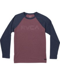 0 Boys Vale Raglan Long Sleeve T-Shirt Red B911VRVA RVCA