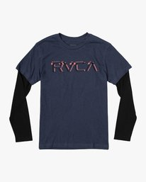 0 Boy's Logo Pack 2fer Long Sleeve T-Shirt  B914VRLO RVCA