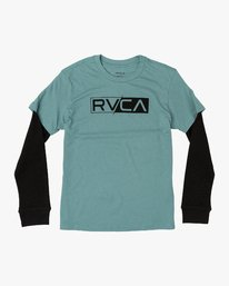 0 Boy's Thermal 2Fer Long Sleeve T-Shirt Multicolor B914WRTH RVCA