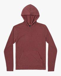 0 Boy's Pocket Pigment Hooded Long Sleeve T-Shirt Red B9151RPH RVCA