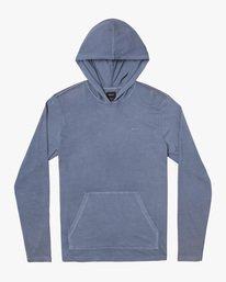 0 Boy's Pocket Pigment Hooded Long Sleeve T-Shirt Grey B9151RPH RVCA