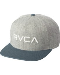 0 Boys RVCA Twill Snapback III Hat Green BAAHWRTS RVCA