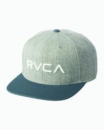 0 Boy's RVCA Twill Snapback III Hat Green BAAHWRTS RVCA