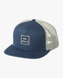 0 Boy's VA All The Way Trucker Hat Blue BAAHWVAA RVCA