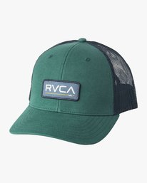 0 Boy's Ticket Trucker Hat Green BAHWQRTT RVCA