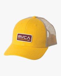 0 Boy's Ticket Trucker Hat White BAHWQRTT RVCA