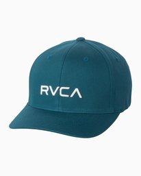 0 Boy's RVCA Flexfit Hat Blue BAHWSRFF RVCA