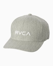0 Boy's RVCA Flexfit Hat Grey BAHWSRFF RVCA