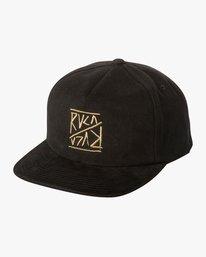 0 Boy's Slant Box Snapback Hat Black BAHWTRSL RVCA