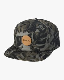 0 Boy's Leaves Strapback Hat Green BAHWVRLV RVCA