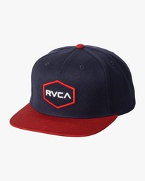 0 Boy's Commonwealth Snapback Hat Blue BAHWWCWS RVCA